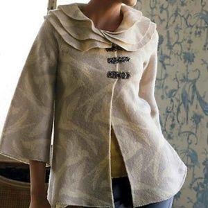 Anthropologie Sleeping On Snow Dove Sweater Coat